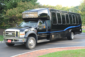Black Ford Luxury Limo Bus