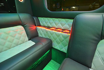White Mercedes Sprinter Bus Interior Photo 2