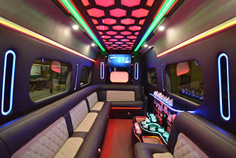 White Mercedes Sprinter Bus Interior Photo 4