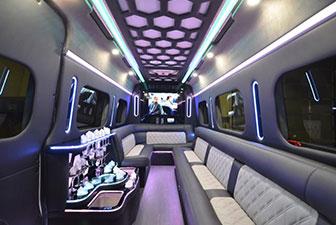 White Mercedes Sprinter Bus Interior Photo 7