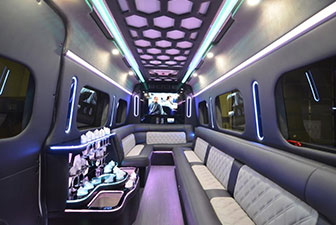 White Mercedes Sprinter Bus Interior Photo 7