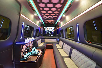 White Mercedes Sprinter Bus Interior Photo 8