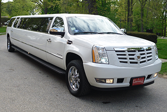 White Cadillac Escalade Super Stretch Limo