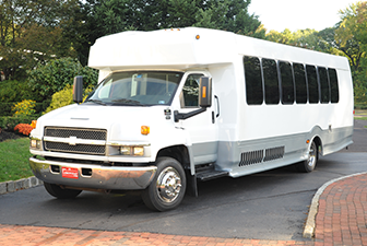 White Chevrolet Mini Shuttle Bus 24-29