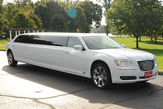 White Chrysler 300 Stretch Limousine