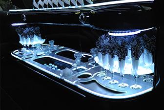 White Chrysler 300 Stretch Limousine Interior 6-8 Photo 1