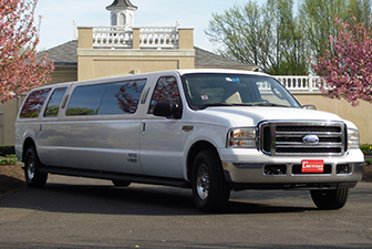 White Ford Excursion Super Stretch Limousine