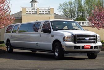 White Ford Excursion Super Stretch Limousine