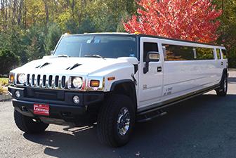 White Hummer H2 Limousine