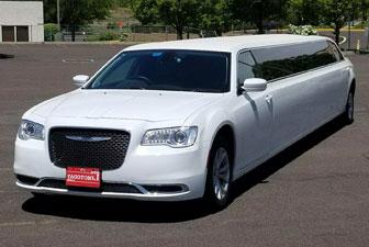 White Chrysler 300 Stretch Limousine 12-14 Exterior Photo 2