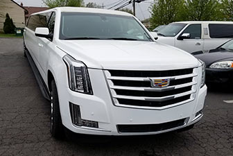 White Cadillac Escalade Super Stretch Limousine